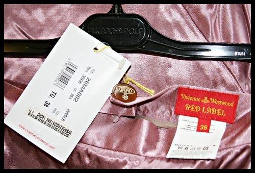 歐碼38全新【Vivienne Westwood 】粉紅色絲緞面魚尾裙(原價$14000)