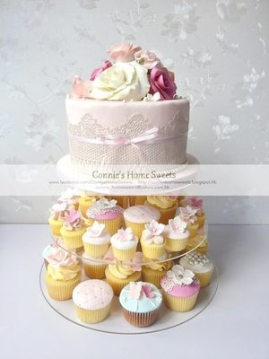 【Connie's Home Sweets】Flower theme wedding cake Floral theme Rose candy corner wedding package