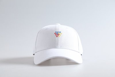 SQUAD 2019 S/S Colored Triangle Logo Old Cap 彩色三角老帽 白色