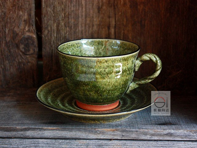 +佐和陶瓷餐具批發+【XL070923-1灰釉刻紋咖啡組-日本製】日本製 咖啡杯 拿鐵杯 茶飲杯 食器 餐具 喝茶器具