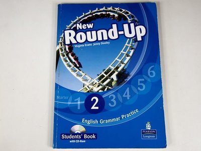【考試院二手書】《New Round-UP Students Book》附光碟│PEARSON Longman│七成新(11F32)