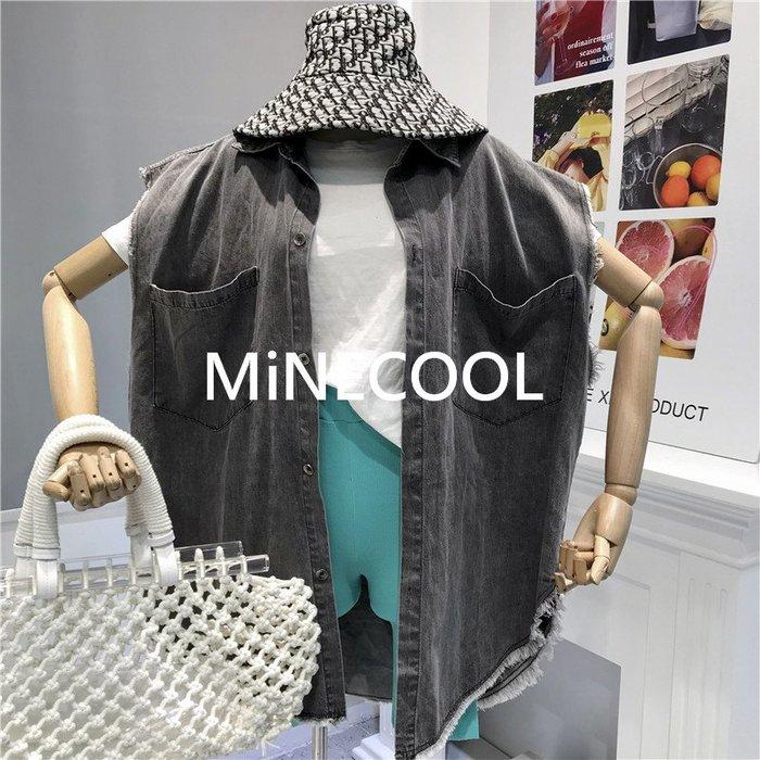 MiNE SHOP韓國 M9710-11實拍 牛仔馬甲針織短褲套裝 圖色 均碼