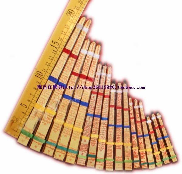 聚吉小屋 #藏傳佛教密宗 正品佛像寶瓶佛塔開光裝藏用品 中軸命柱柏木長40cm
