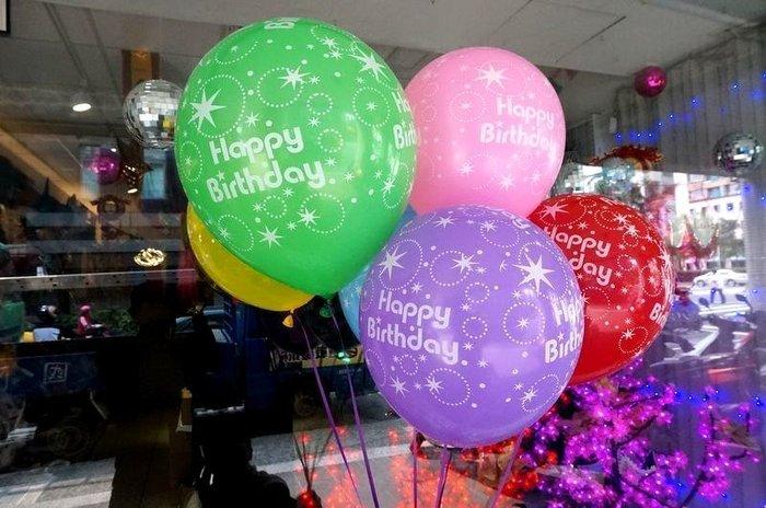 發光派對屋(西門中華店)@12吋加厚生日快樂氣球
