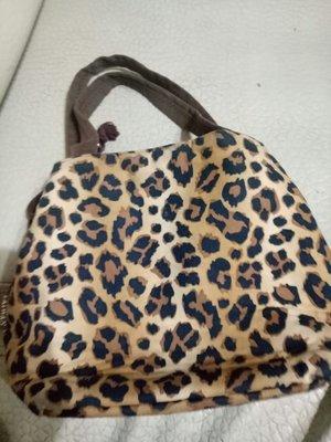 豹紋手提包速口18x23x12cm(左桌袋)