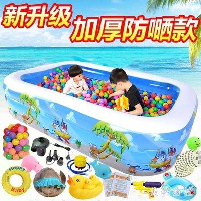 兒童游泳池嬰兒家用充氣加厚寶寶小孩洗澡盆成人家庭超大號戲水池 st3879