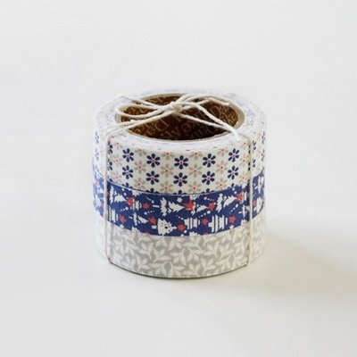 ❅PAVEE❅ 韓國DailyLike~ Fabric 小花 聖誕樹 樹葉 布面膠帶~ 32 SNOW BELL