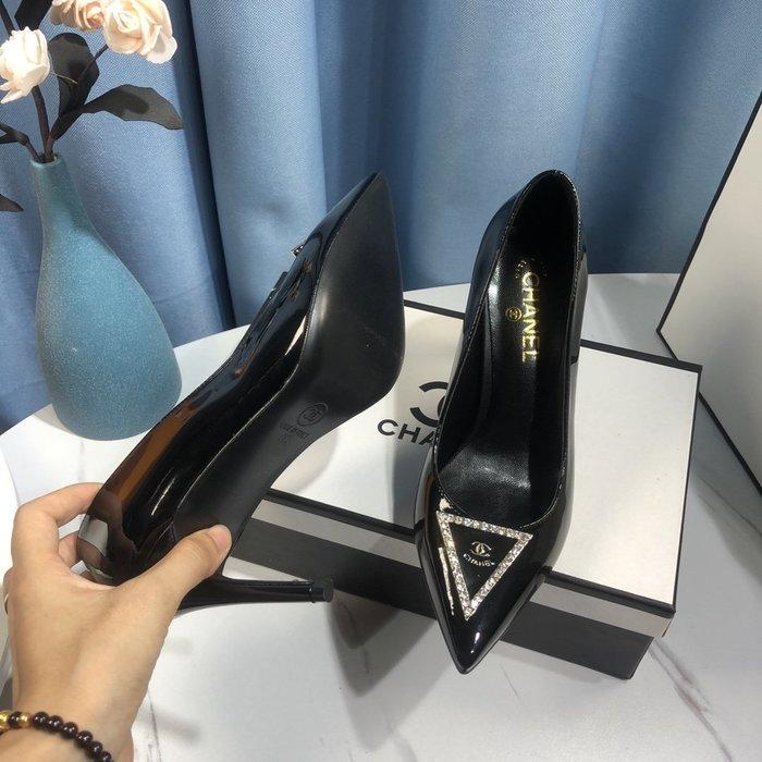 CHA*小香家高跟鞋 女真皮細跟尖頭單鞋33-42碼~妖精館