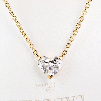【馬格斯珠寶】18k 心形鑽石項鍊 心型鑽石項鏈  鑽石吊墜 極美無暇 火光極佳 手工訂製 情人節禮物 生日禮物 234