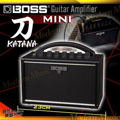 【現代樂器】現貨免運!BOSS KATANA-MINI 刀 電吉他音箱 7W 桌上型小音箱 可裝電池