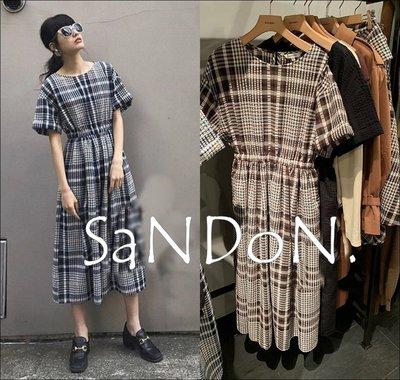 山東:夏季下折扣 MOUSSY 舒服織物格紋鬆緊好穿洋裝 SLY 200715