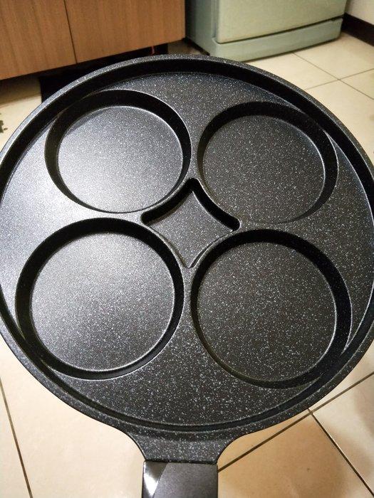 免運)韓國大理石重力鑄造4孔煎蛋鍋(30cm)