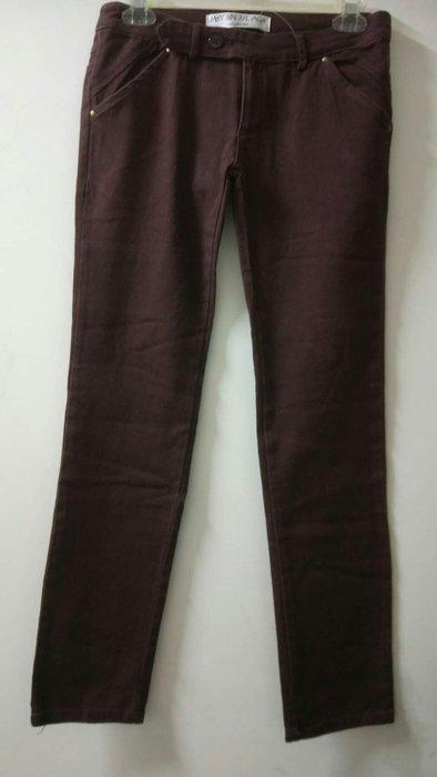 香港獨立設計M5Yj6N j7L AG8 紅酒色萊卡單寧褲
