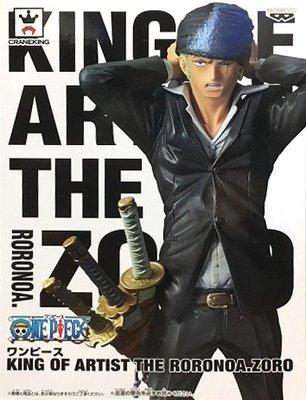 日本正版 景品 海賊王 航海王 KOA 藝術王 索隆 黑色 公仔 模型 日本代購