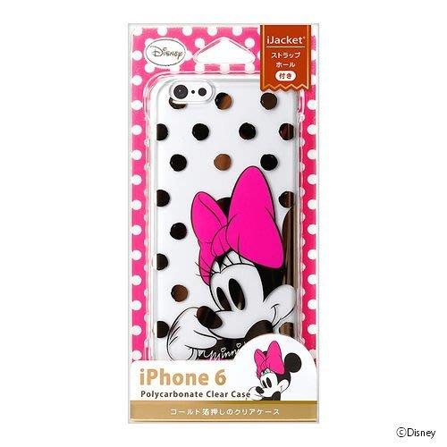 東京家族 特價 正版 迪士尼 Disney 4.7吋 i Phone 6 手機殼 硬式透明金箔系列 米妮點點 現貨