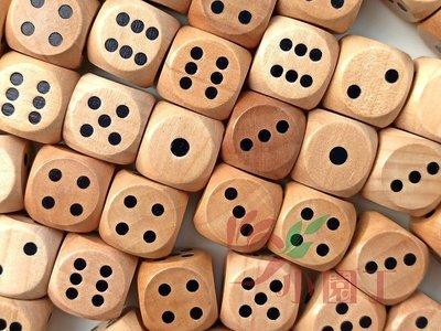 小園丁 桌遊配件 2公分 6面 點數木頭骰子 dice 桃園市