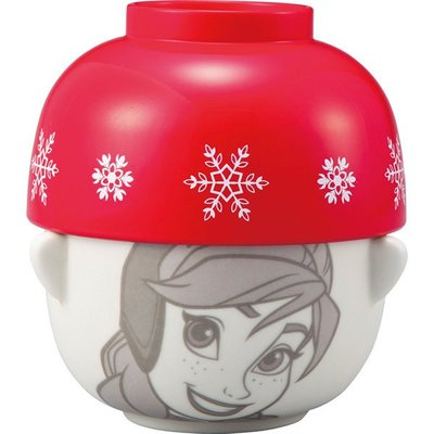 ♡fens house♡日本進口 Frozen 冰雪奇緣 anna 安娜 造型 碗 飯碗 茶碗 陶瓷碗 蓋~兩個碗一組