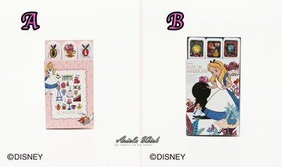 Ariel's Wish預購-日本Afternoon Tea迪士尼愛麗絲Alice時鐘兔子-便利貼n次貼留言書籤組-兩款