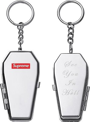 【area0439】2017 Supreme Coffin Keychain Box Logo 棺材 鑰匙圈 煙灰缸