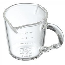 省錢工坊-耐熱玻璃雙口量杯80ml 盎司杯 刻度量杯 濃縮咖啡杯 尖嘴量杯 耐熱玻璃杯