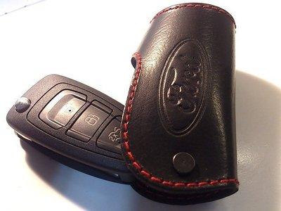 Ford Mondeo Focus Fiesta Kuga Ranger Metros福特摺疊鑰匙皮套智能鑰匙保護套
