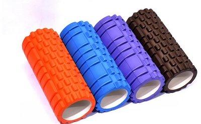 EVA 瑜伽 滾筒 滾輪 Roller 按摩棒 狼牙棒 瑜珈柱 舒壓棒 按摩滾筒 跑步 拉力繩 棒球路跑 【R27】