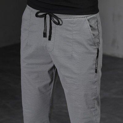 男休閒褲 潮流男褲子 夏季薄款男修身寬鬆新品小腳褲子百搭運動褲男士韓版長褲xy101新品3
