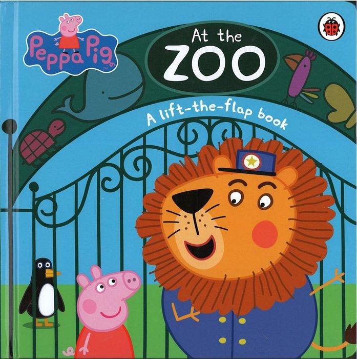 *小貝比的家*PEPPA:AT THE ZOO/A LIFT-THE -FLAP BOOK/硬頁書/4-5歲中班