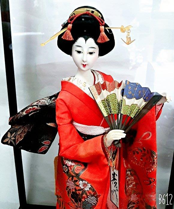 【市價下殺 2折出清】手創來自日本大娃娃 日本美女 含木框 高64×37×32公分 原價近三萬元 超細膩純手工製作珍藏品