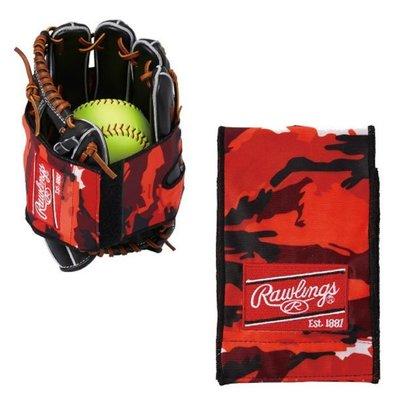 貳拾肆棒球-日本帶回 Rawlings手套保型帶/迷彩紅