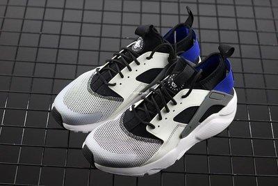 Nike Air Huarache Run Ultra 黑白藍 百搭 網面透氣 經典 休閒運動鞋 819685-100 男