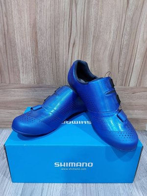 【單車元素】全新 SHIMANO RC5 卡鞋 公司貨 寬版 藍 SH-RC500 #43