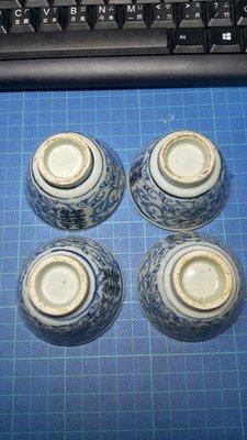 繪雙喜青花杯……4個一組