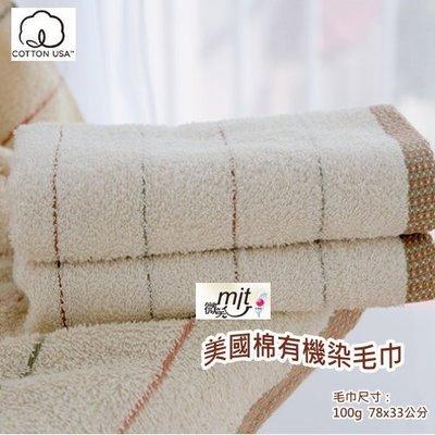 美國棉■有機染毛巾(單條) 【台灣興隆毛巾專賣 ✽ 歐米亞小舖】無染毛巾