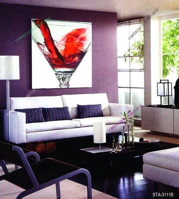 【40*40cm】【厚1.2cm】獨立畫酒杯-無框畫裝飾畫版畫客廳簡約家居餐廳臥室【280101_323】單聯畫