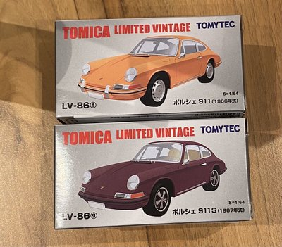 全新 TOMY TOMICA TOMYTEC TLV LV - 86 PORSCHE 保時捷 911 911s 模型車