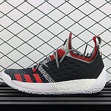 D-BOX  Adidas Harden Vol.2 復古 經典 籃球鞋 灰黑紅 針織