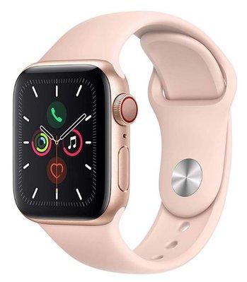 全新未拆 Apple 蘋果 Watch S5 LTE 44mm 金色鋁金屬錶殼 搭配粉沙色運動錶帶 台灣公司貨 保固一年