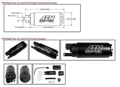 UDP比價王 美國原裝 AEM 320L 320 L 320 LPH 通用型 高流量 汽油幫浦 含配件包 韋伯 偉伯