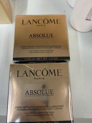 $1300/60ml/lancome 極緻完美玫瑰面霜 absolue soft cream