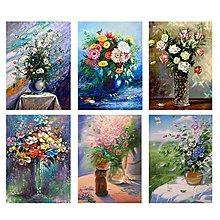 歐式花瓶花卉裝飾畫心油畫布噴繪打印客廳臥室沙發背景