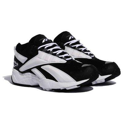 =E.P=REEBOK Interval 96 大LOGO 白色 男版 黑色 黑白色休閒鞋 老爹鞋 Fv5521