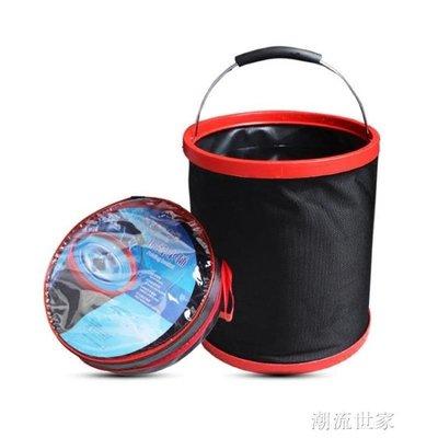 汽車用可折疊水桶垃圾桶戶外釣魚  初服...