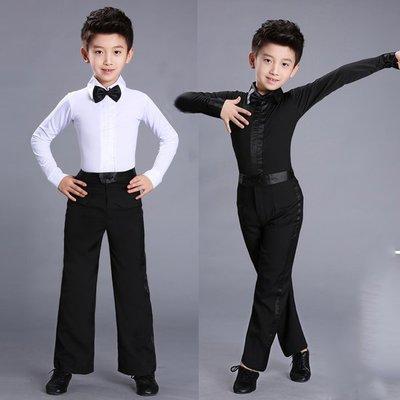 5Cgo【鴿樓】會員有優惠 543300631857 少兒拉丁舞服裝新款考級服男童拉丁舞服練功服演出服標准規定服裝