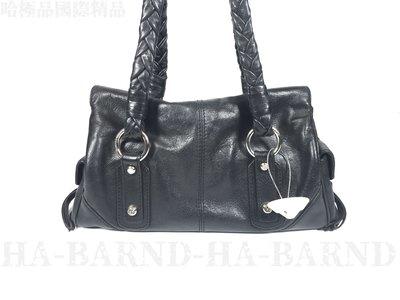 【哈極品】二手品《 FRANCESCO BIIASIA 黑色全皮編織手提包》