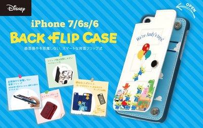 尼德斯Nydus 日本迪士尼 米奇 米妮  玩具總動員 毛怪 大眼仔 翻頁式 手機殼 4.7吋 iPhone7/6S/6