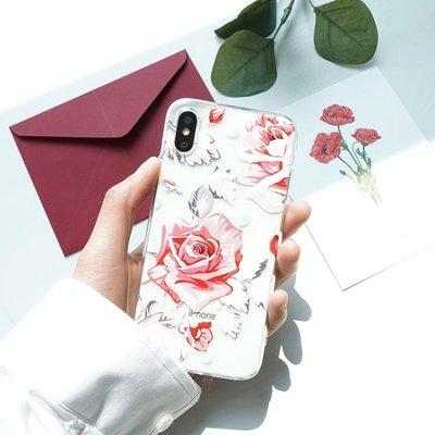手機殼 原創春夏鮮花手機殼iPhone...