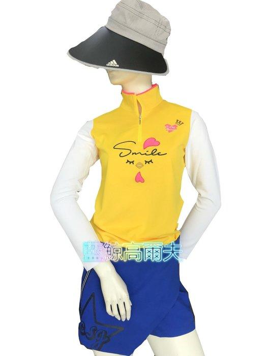 藍鯨高爾夫 Le coq sportif 女長袖立領拉鍊衫(黃) #QL123102