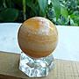 礦石園3538?收藏價300?印尼天然金田黃球~45mm 淨重133g~非黃玉