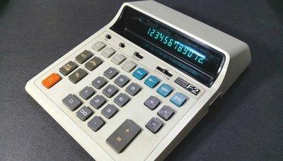 日製 CASIO 早期 12位數大型計算機 電池/插電2用型 擺設 收藏